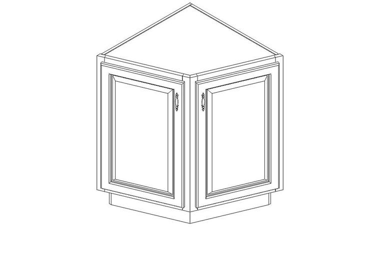 Angled End Base Cabinet