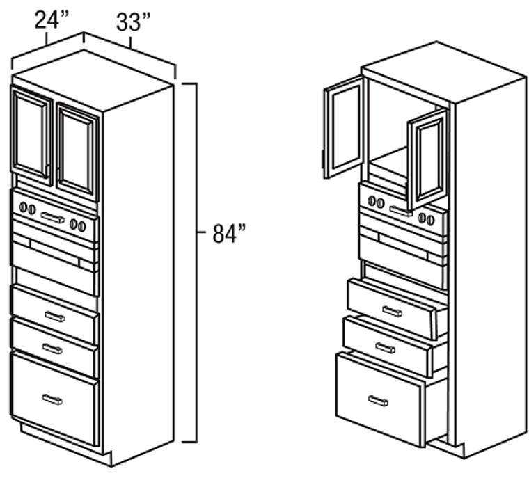 3384 Universal Oven Cabinet
