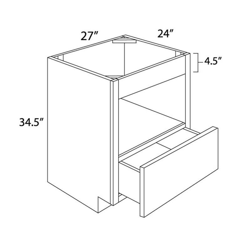 Base Microwave Cabinet 27