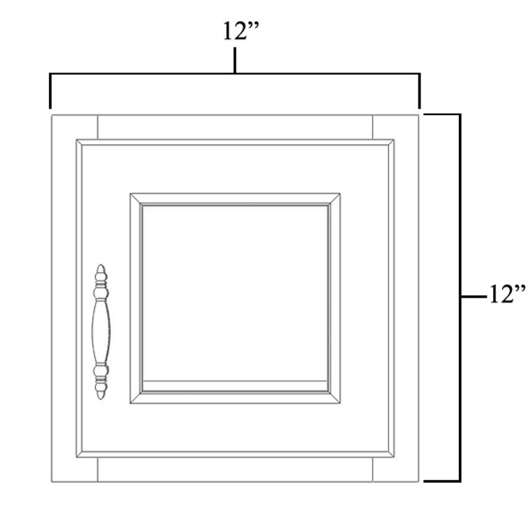 "Single Decorative Stacker Wall Cabinet 12"" x 12"""