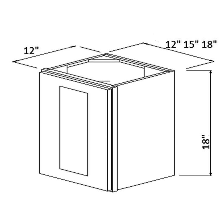 """Single Door 18"""" High Wall Cabinet 18""""  wide"""