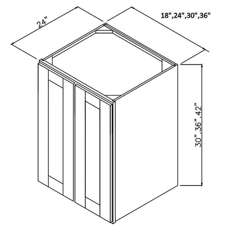 "RTA Utility Wall Cabinet 24"" x 36"" x 24"""