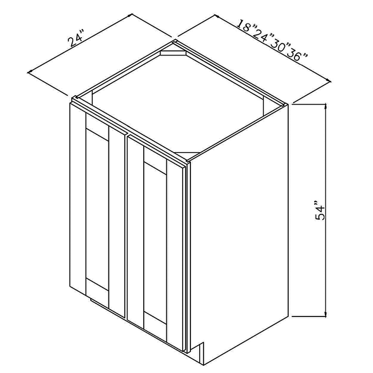 "RTA Utility Base Cabinet 24""x54""x24"""