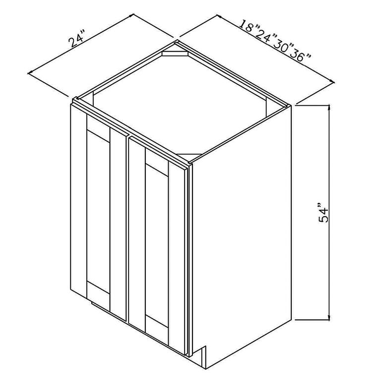 "RTA Utility Base Cabinet 36""x54""x24"""