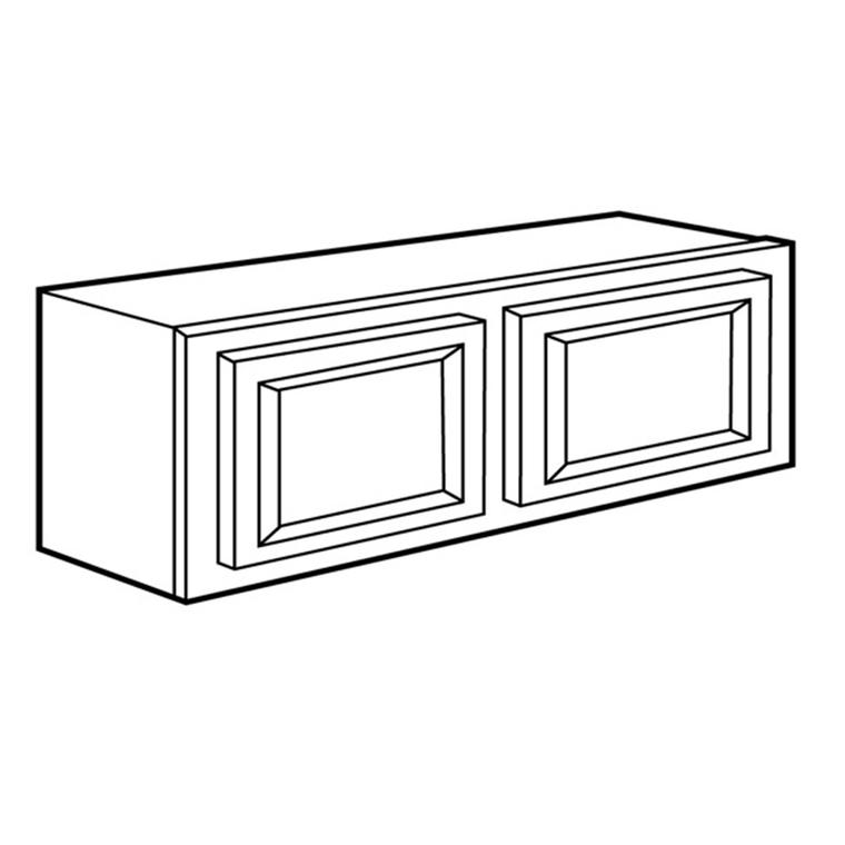 "Doors Only RTA Bridge  Wall Cabinet 36"" x 18"""