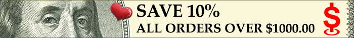 Save 10% on all orders over $1000