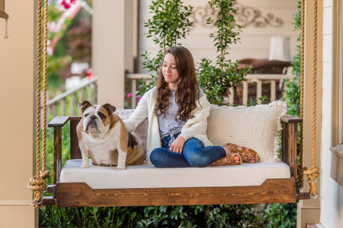 Porch Swing Bed, Saylor, Vertical slats