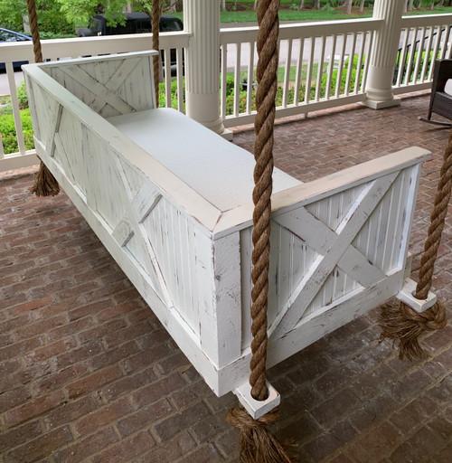 Porch Swing Bed, Timber Ridge, Distressed