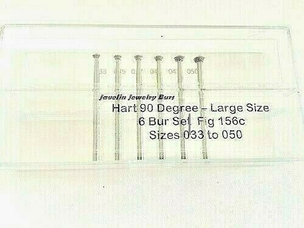 Hart 90° / Bearing Cutter.,  sizes 033  to 050, 6 Piece Set