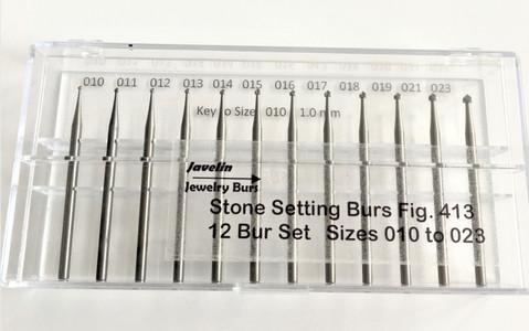 Stone Setting, Sizes 010 to 023, 12 piece Set