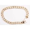 """Second Hand 9ct Rose Gold 8"""" Flat Square Curb Bracelet"""