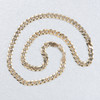 "Second Hand 9ct Gold 18"" Heavy Flat Curb Chain"
