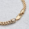 "Second Hand 9ct Gold 7 ½"" Square Double Curb Bracelet"