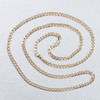 """Second Hand 9ct Gold 30"""" Flat Curb Chain Necklace"""