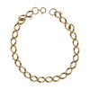 Image of Second Hand 9ct Gold Flat Curb Charm Bracelet