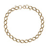Second Hand 9ct Gold Flat Curb Charm Bracelet