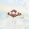 Vintage 18ct Gold Ruby & Pearl Dress Ring