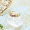 Vintage Edwardian 18ct Gold Ruby & Diamond Gypsy Ring