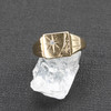 Second Hand 9ct Gold Diamond Square Signet Ring