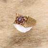 Second Hand 9ct Gold 1970's Garnet Dress Ring