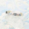 Second Hand 18ct Gold Aquamarine & Diamond Eternity Ring