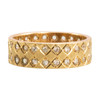 Second Hand 9ct Gold Two Row Spinel Wedding Band