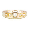 Antique 15ct Gold Pearl & Diamond 5 Stone Mourning Ring