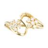 Second Hand 9ct Gold Diamond Flower Dress Ring