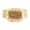 Antique Georgian 15ct Gold Morning Ring with Hairwork Panel