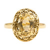 Second Hand 14ct Gold Citrine Dress Ring