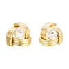 Second Hand 9ct Gold Triangle Tube Cubic Zirconia Stud Earrings