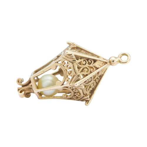 Second Hand 9ct Gold Lantern Charm Pendant