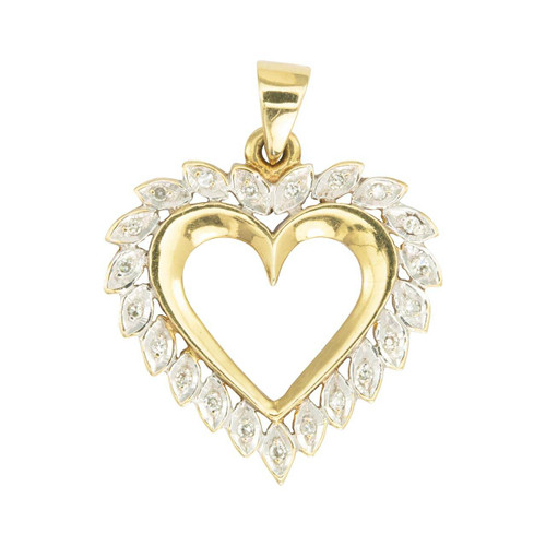 Second Hand 9 carat Gold Diamond Heart Pendant