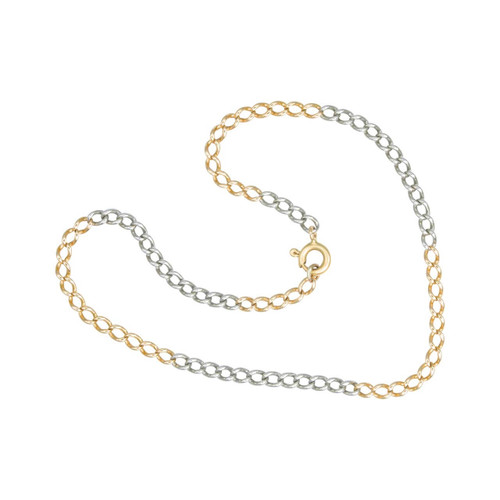 Second Hand 18ct 2 Colour Gold Curb Bracelet