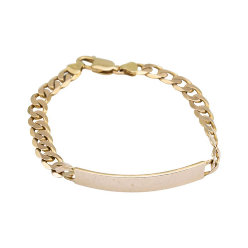 "Second Hand 9ct Gold 8"" ID Bracelet"