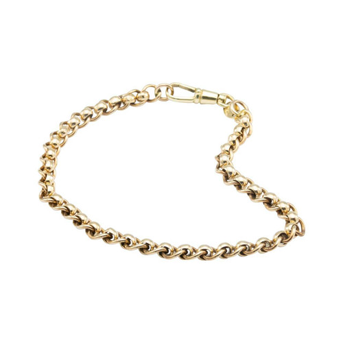 "Second Hand 9ct Gold 8.5"" Belcher Bracelet"