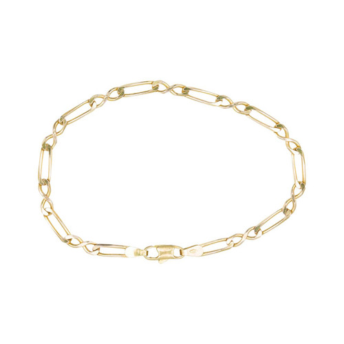 Second Hand 9ct Gold Fancy Figaro Bracelet