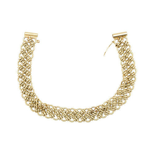Second Hand 9ct Gold Circle Chain Bracelet