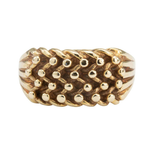 Second Hand 9ct Gold 4 Row Keeper Ring