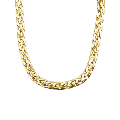 "Second Hand 9ct Gold 16.5"" Braided Flat Link Choker Necklace"