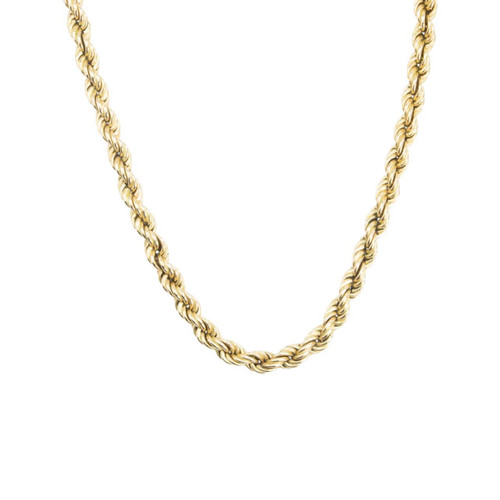 "Second Hand 9ct Gold 18"" Rope Chain Necklace"