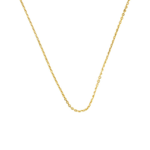 "Second Hand 18ct Gold 18"" Trace / Cable Chain Necklace"