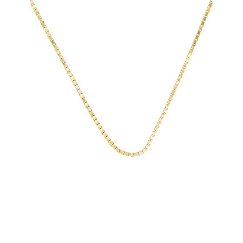 "Second Hand 18ct Gold 22"" Box Chain Necklace"