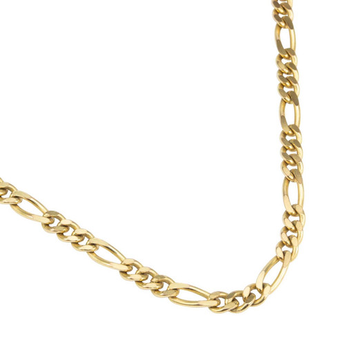 "Second Hand 18"" 9ct Gold Figaro Chain Necklace"