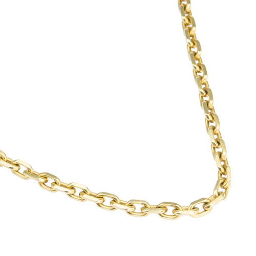 "Second Hand 18ct Gold 31"" Long Cable Chain Necklace"