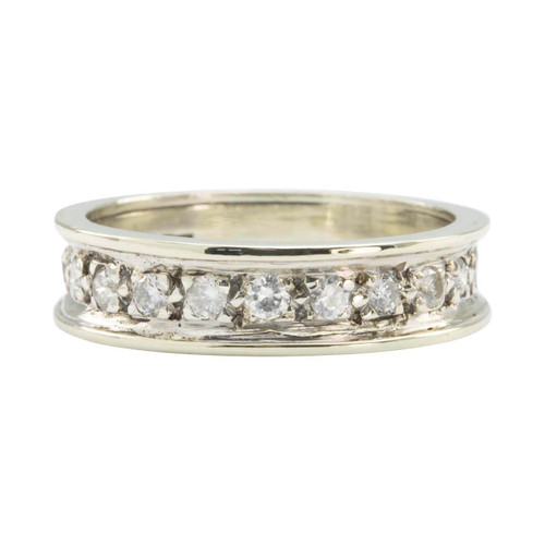 Second Hand 9ct White Gold ½ Carat Diamond Half Eternity Ring