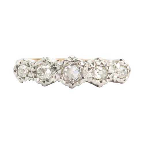Antique 18ct Gold 5 Stone Old Cut Diamond Ring