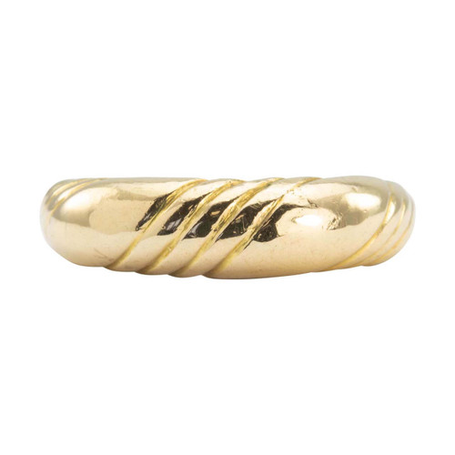 Second Hand 18ct Gold Plain Wave Ring