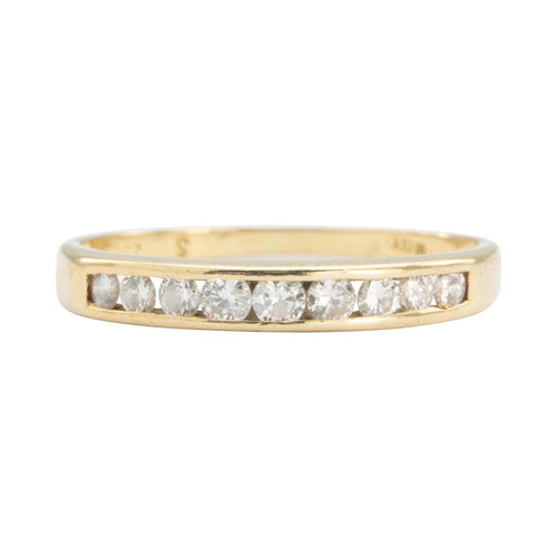 Second Hand 18ct Gold Channel Set Diamond Half Eternity Ring