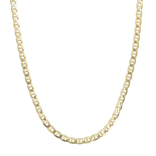 "Second Hand 9ct Gold 24"" Long Anchor Chain Matinee Necklace"